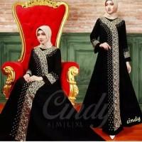 Baju Gamis Wanita Terbaru / Abaya Bordir Kimono / Gamis Arab / Syari