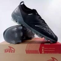New Sepatu Bola Specs Swervo Galatica FG Black Dark Cool Grey Ori