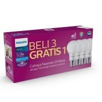 Lampu LED Bulb Bohlam PHILIPS Paket 12 Watt Mycare Pack 12W Multipack