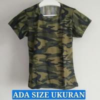 Kaos tshirt baju tumble tee cewek wanita Army Polos terbaru