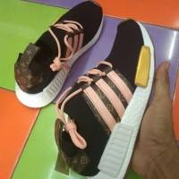 Sepatu Sneakers Adidas NMD Louis Vuitton Black Pink White