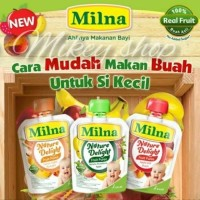 Milna Nature Delight Fruit Puree / Bubur Sari Buah Bayi all Varian 80