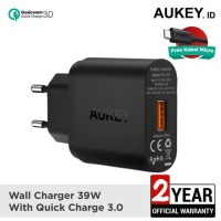 Aukey Charger Rumah 1 output PA-T9 Fast Charging 3S