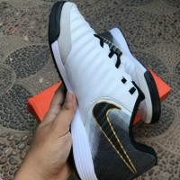 Sepatu Futsal Nike Tiempo X Finale II White Black IC