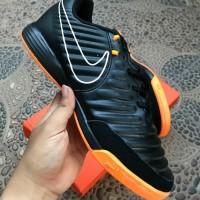 Sepatu Futsal Nike Tiempo X Finale II Black Orange IC
