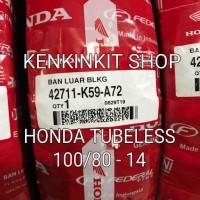 BAN HONDA 100/80 - 14 TUBELESS - Standart belakang HONDA VARIO 150 201