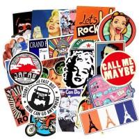 50 pcs Stiker Sticker Koper Rimowa Retro Old School Syle Graffiti