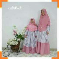 Pakaian Muslim Anak Perempuan 78 Gamis couple ibu anak usia 1 thn