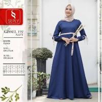 Seply Gissel 192 - Baju Muslim Gamis Dress Syari Termurah Original