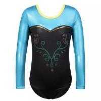 Baju Senam Anak Gymnastic Rhythmic Figure Long Leotard Anna Frozen