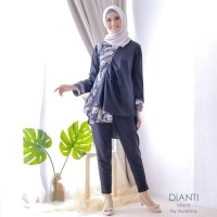 Baju Menyusui Batik Dianti Hitam Blouse Busui Dress Ibu Hamil Kerja