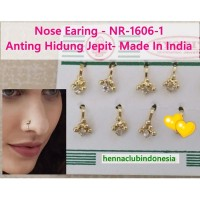 Anting Hidung Jepit-NR-1606-1-Nose Ring Stud Pin-Earing Nath-Ori India