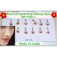 Anting Hidung Jepit-NR-1505-1-Nose Ring Stud Pin-Earing Nath-Ori India