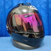 Arai Profile black with visor Red iridium mulus not agv shoei