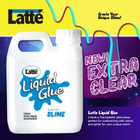 jual lem LATTE LIQUID GLUE cair 1 liter untuk SLIME
