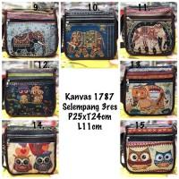 sling bag thailand / tas selempang kanvas import gajah owl termurah