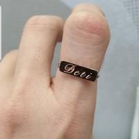 cincin emas bisa grafir nama
