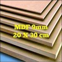 Papan Kayu MDF 9mm 20x30 cm