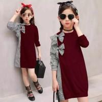 Dress pita kids baju pakaian anak perempuan umur 7 - 9 tahun terbaru