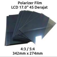 Polarizer PC 17 inch 45 derajat polarized lcd 17 inch