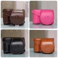 Leather case Cover Sony Alpha A6000 A6100 A6300 A6400 NEX6