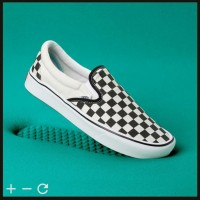 Original Vans Comfycush Slip On Checkerboard Sepatu Vans Slip on - 40