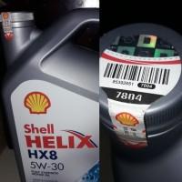 Oli Shell Helix HX8 SAE 5W-30 API SN Plus Fully Synthetic 4 Liter