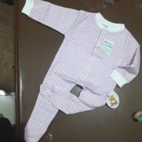 baju bayi velvet over all merah biru 100% cotton