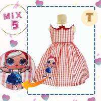 MIX 5 KIDS -T/Dress LOL Kids LED/Dress LOL anak LED /Baju anak LOL LED