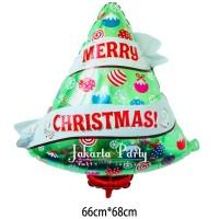 Balon Foil Natal / Balon Merry Christmas / Balon Foil Pohon Natal