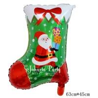 Balon Foil Natal / Balon Merry Christmas / Balon Sepatu Natal 2