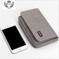 Tas Gadget Dompet Multifungsi untuk Smartphone Powerbank Paspor Uang