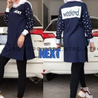 tunik kaos atasan baju muslim blouse bluss santai wanita muslimah