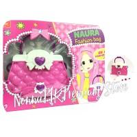 mainan anak fashion bag naura / tas / bando pink