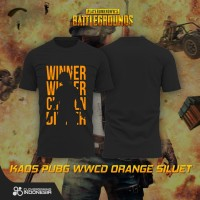 Kaos PUBG WWCD Orange Siluet - Premium Baju PUBG Apparel Gaming