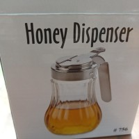 honey dispenser botol madu tempat madu kaca