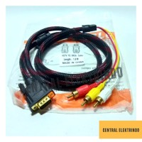 Kabel VGA to RCA @1,5m GOLD PLATED