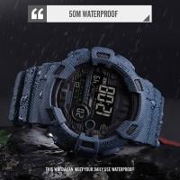 Jam Tangan Pria Digital SKMEI 1472 DENIMBLUE Water Resistant 50m