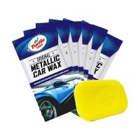 Turtle Wax BUNDLE Metallic Sachet 6pc & Pads Body Mobil Motor