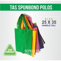 Tas Spunbond 25 x 35 Polos - Goodie bag ramah lingkungan Handle tali