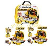 Mainan Anak Deluxe Tool Set Box Alat Tukang Pertukangan Perkakas Set