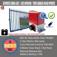 Autogate DC Motor Sliding Gate 600 KG Anti Mati Lampu