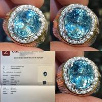 Batu Blue Aquamarine Beryl Top Luster Memo 5.35 crt