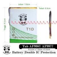 Baterai Asiafone AF9987 AF9977 Tablet T1D Double IC Protection