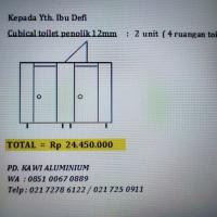 Pintu Toilet / Partisi Cubical Toilet Phenolic