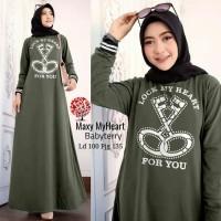 gamis maxi kaos baju muslim terusan dress maxy muslimah santai casual