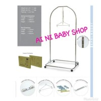 Paket Tiang Ayunan Bayi Stainless MY DEAR(s) + Kain Ayun POLAR Basic