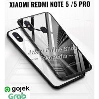 Case Xiaomi Redmi Note 5 - 5 Pro Luxury Tempered Glass Case Back Cover