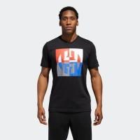 Adidas original james harden logo T-shirt black Bnwt