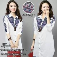 tunik batik songket atasan baju pesta blouse wanita bluss elegan mewah
